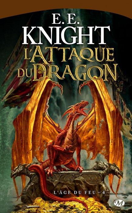 L'âge du Feu de E.E. Knight 1002-attaque-dragon